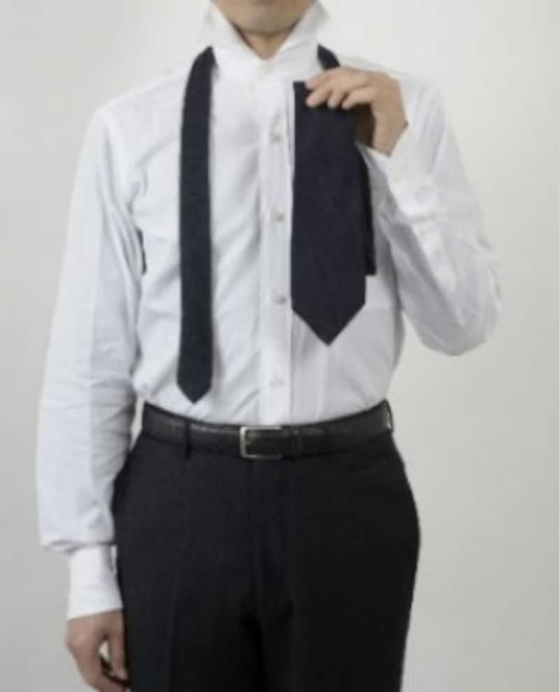 ネクタイ,結び方,プレーンノット