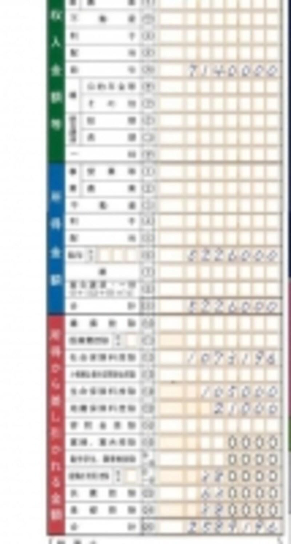 源泉徴収票から読み取れる部分をまずは記載(出典:国税庁記載例より)