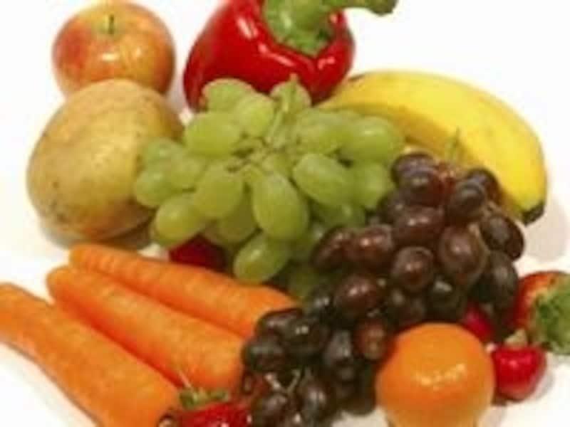 加熱していない野菜や果物をたっぷり採ろう!