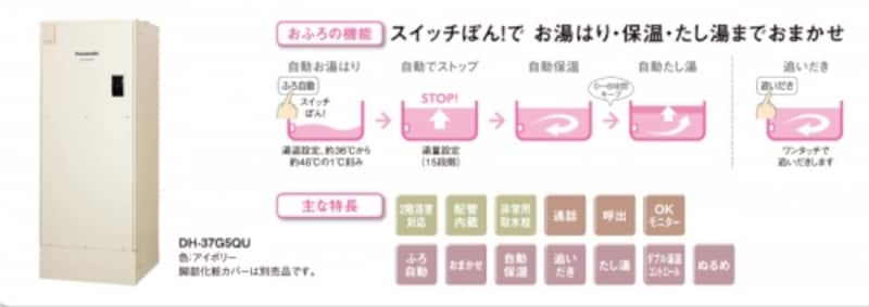 スイッチひとつで、お湯はり、保温、たし湯まで。[電気温水器ユポカundefined追いだき機能付きフルオート]パナソニックエコソリューションズhttp://sumai.panasonic.jp/