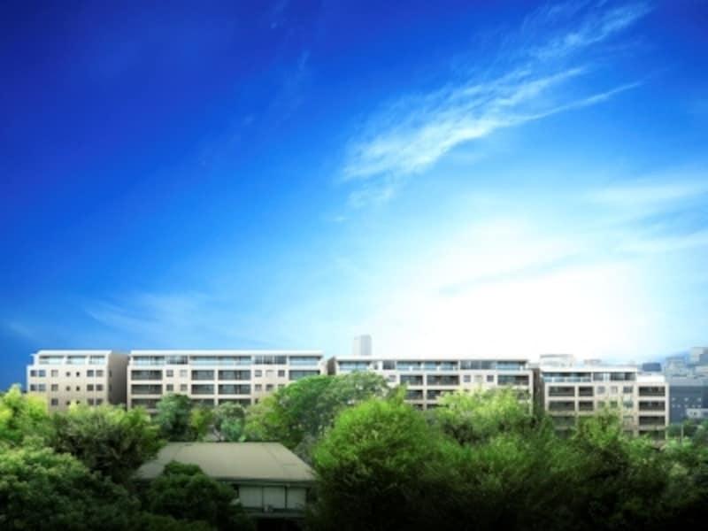 乗泉寺の緑に映える外観完成予想図
