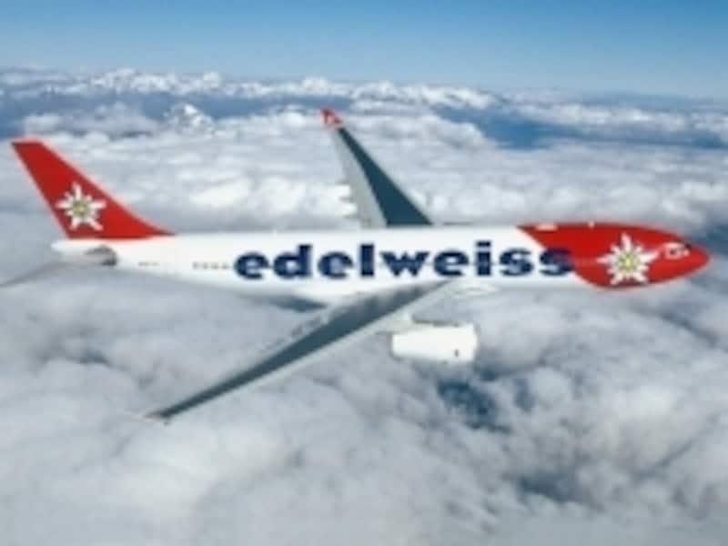 エーデルワイス航空機影