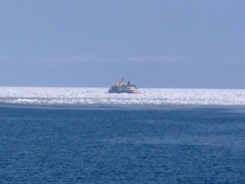流氷帯に挑む流氷観光砕氷船「おーろら」(2)