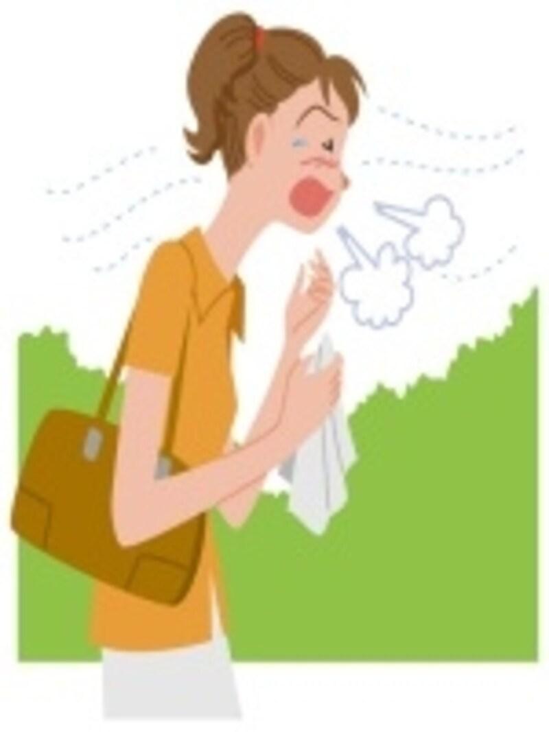 花粉症の季節に腰を痛めやすくなるかもしれません