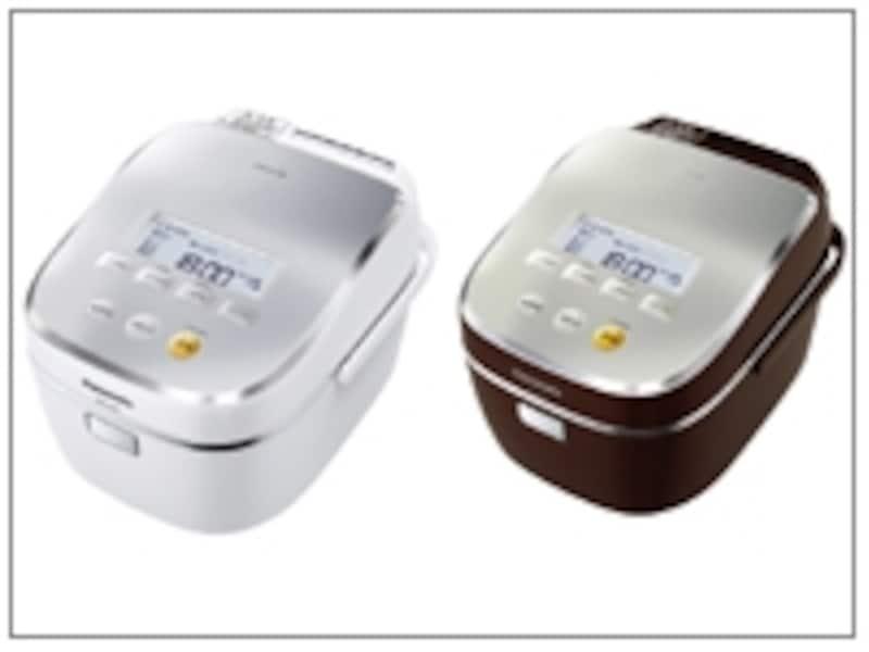スチームIHジャー炊飯器【SR-SJ101】左:-Wホワイト/右:-Rマホガニーレッド