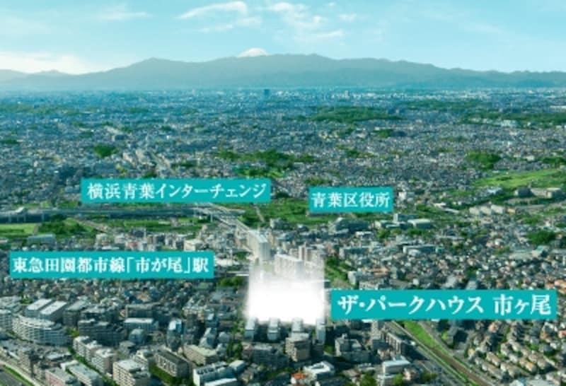 現地航空写真 ※平成22年11月に撮影した航空写真にCG加工を施したもので、実際とは異なります