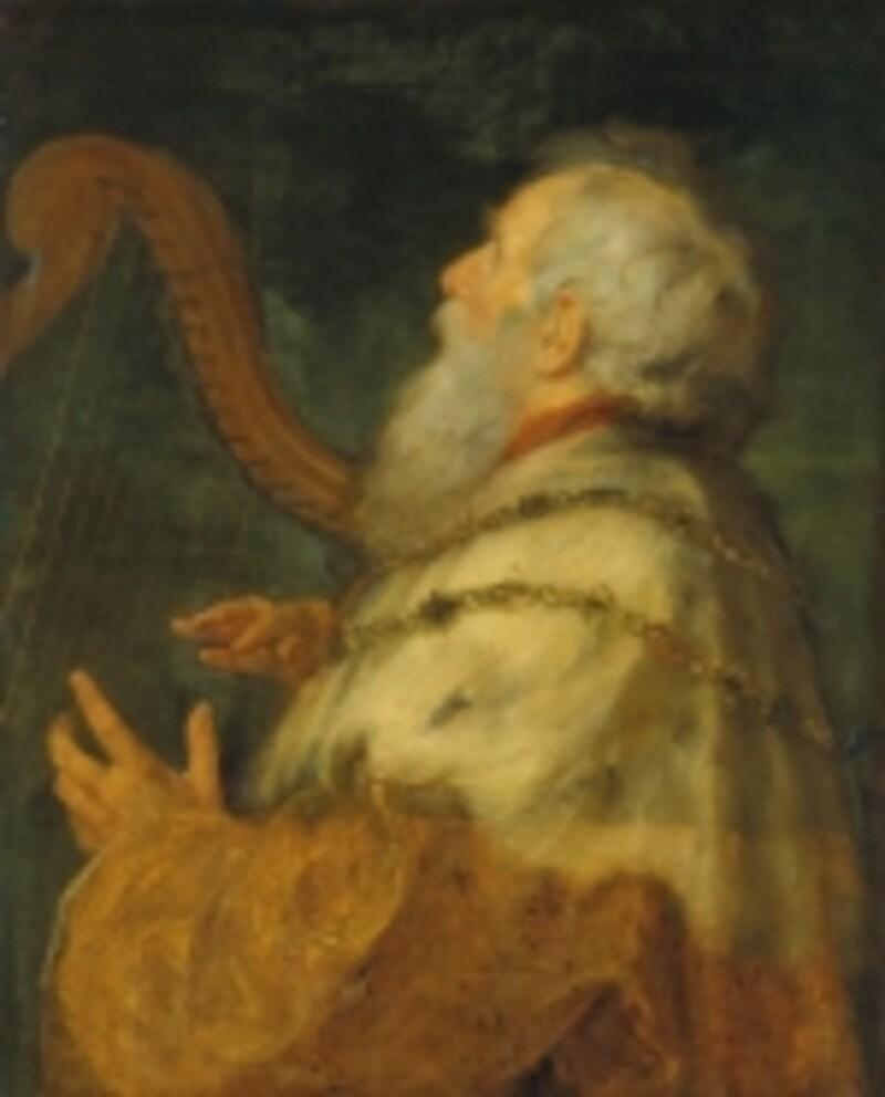 竪琴を弾くダヴィデ王