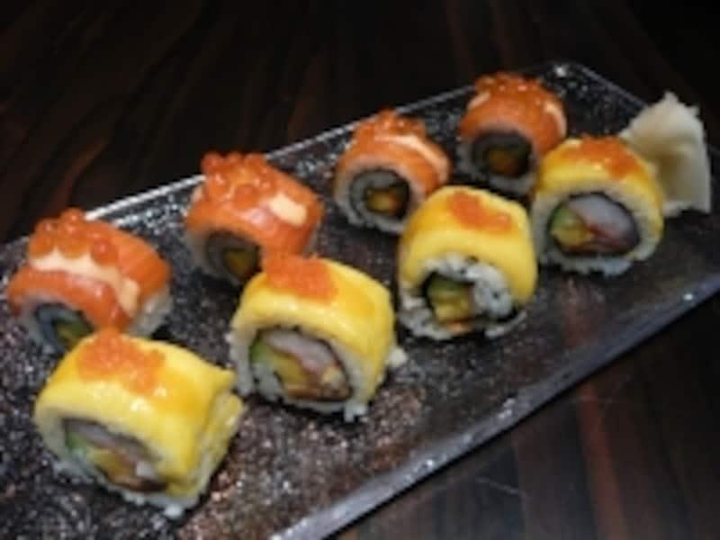 マンゴーのロール寿司