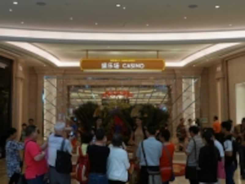 ギャラクシーマカオのカジノフロア入口