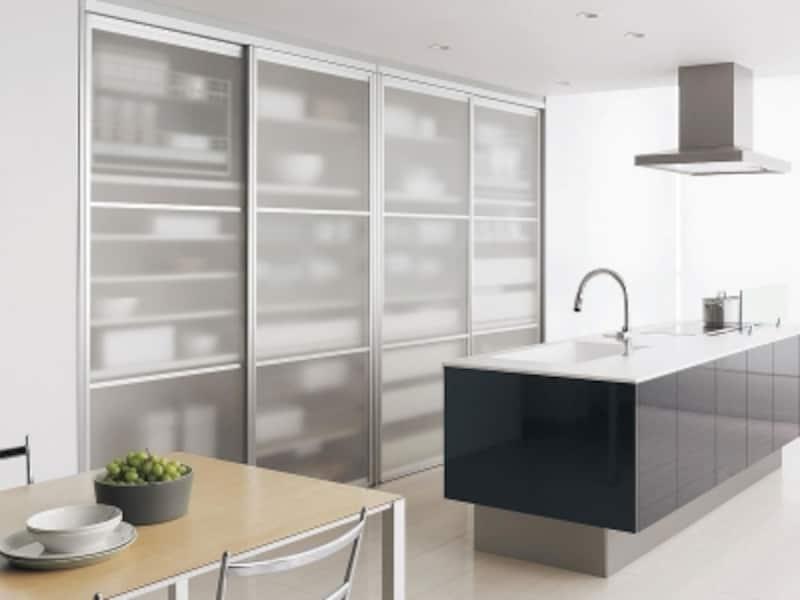 キッチン引き戸収納