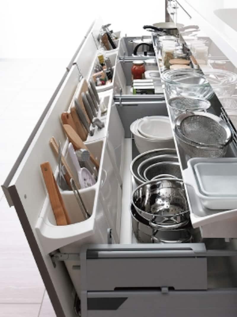 システムキッチン引き出し