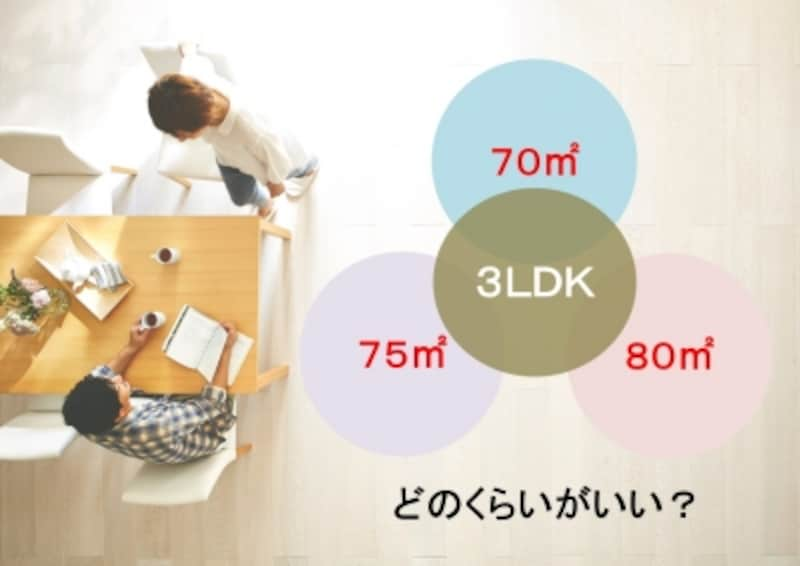 3LDKのマンションを買うならどのくらいの広さがあったらよい?