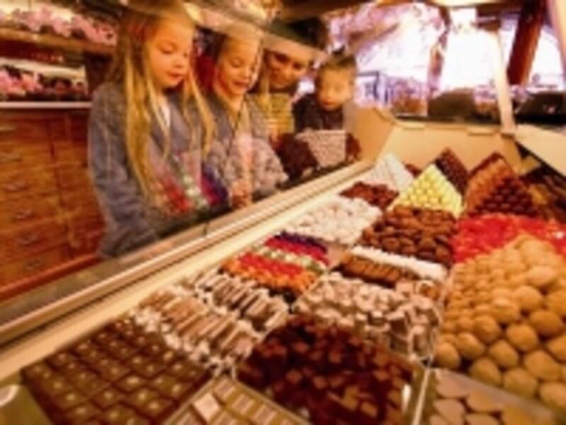チョコレート店のウィンドウ