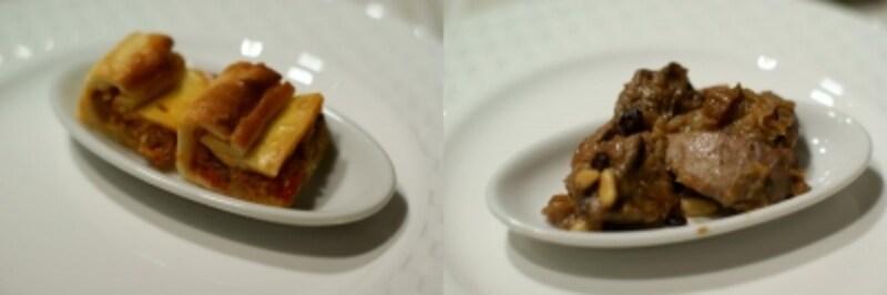 「塩鱈のパイ」と「うさぎのレバー」