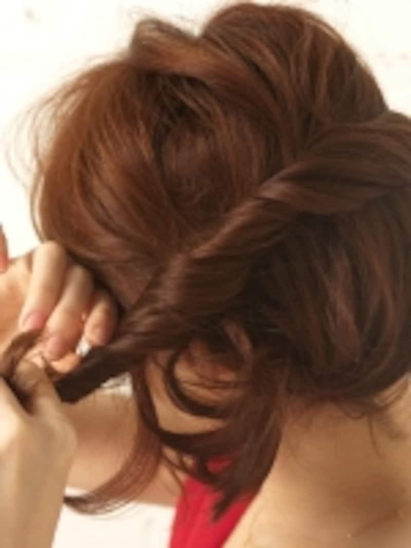 トップの毛はふんわりすりように