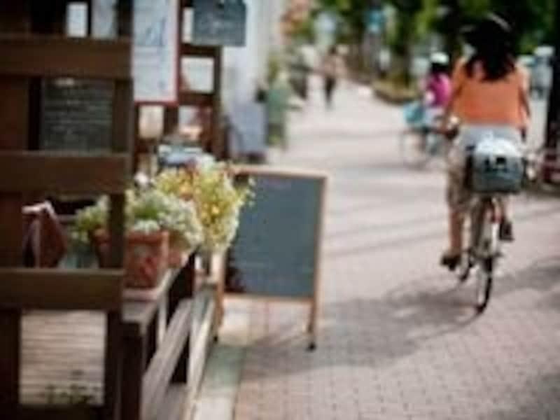 自転車でお買い物