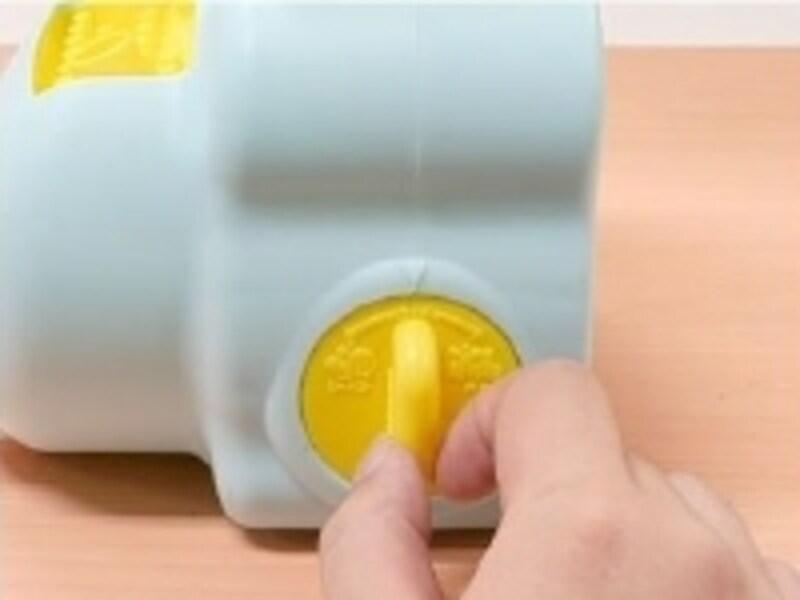 泡とシャボン玉はスイッチで簡単に切り替えられます