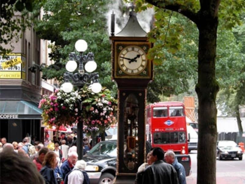 ギャスタウン名物の蒸気時計。周囲はいつも観光客で賑わうundefined(C)TourismVancouver