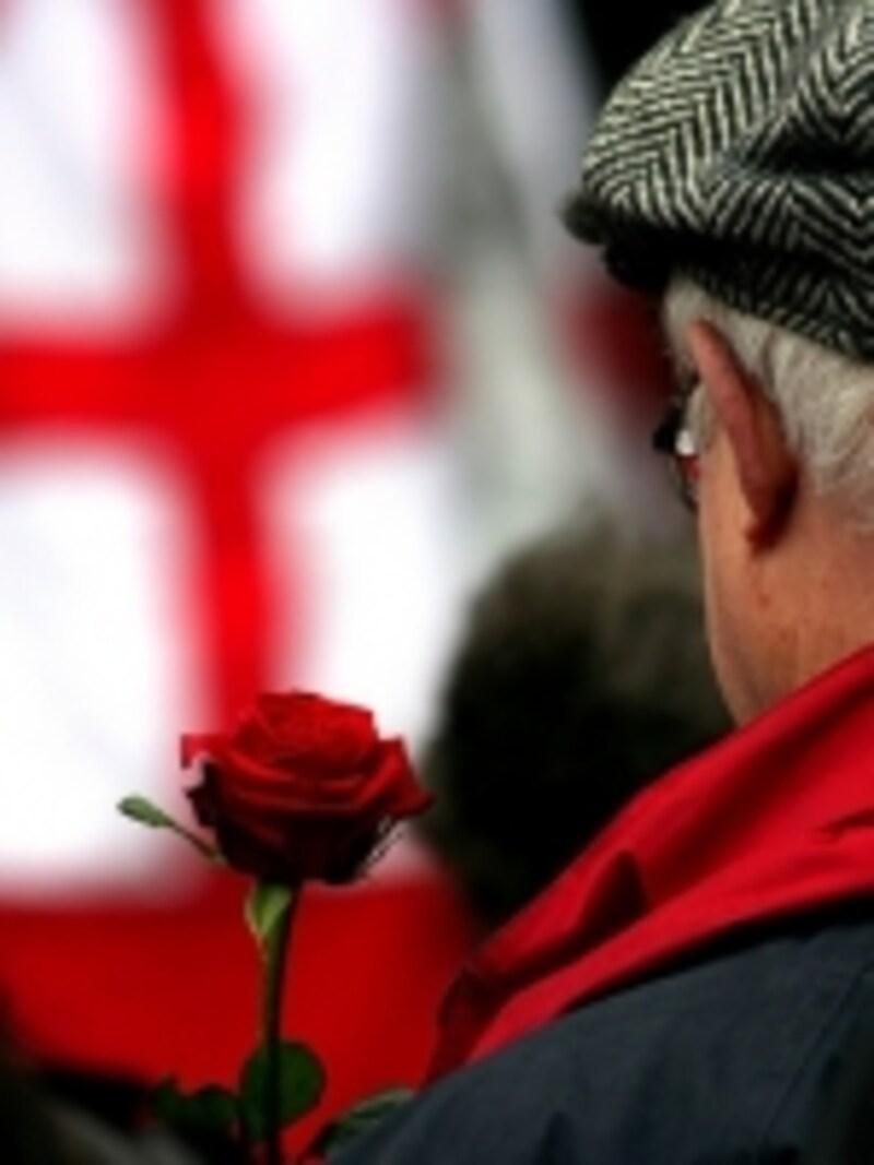 サンジョルディの日を祝う赤いバラ