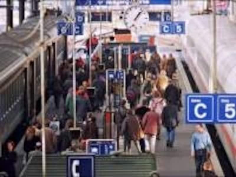 スイスの駅イメージ