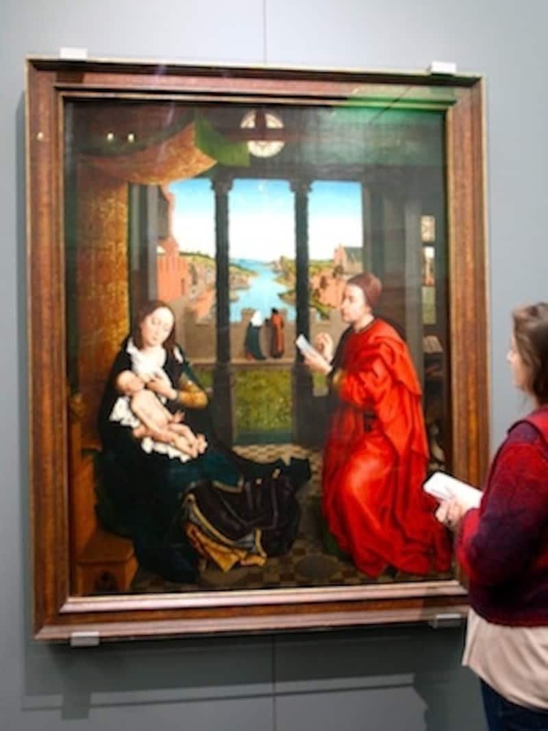 ロヒール・ファン・デル・ウェイデンの『聖母の肖像を描くルカ』