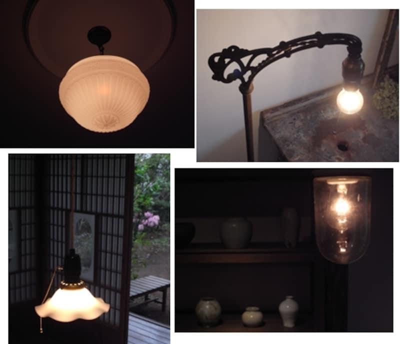 各部屋のランプも趣向が凝らされている