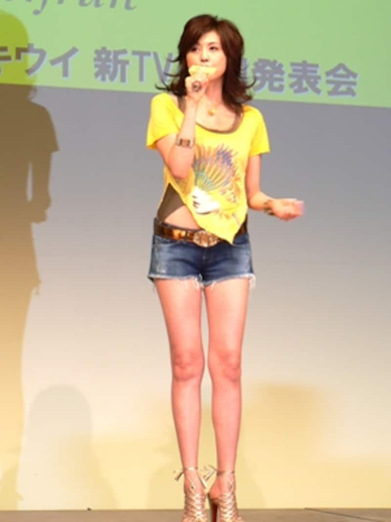 新TVCM発表会での藤原紀香さん