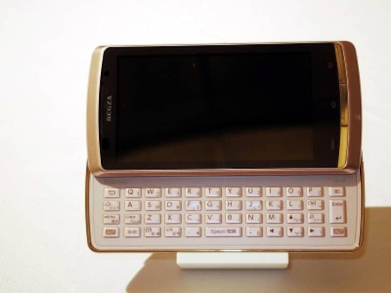 フルキーボード+モバイルレグザエンジン4.0のREGZAPhoneIS11T
