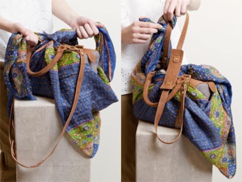 1枚のスカーフが、おしゃれバッグに大変身!