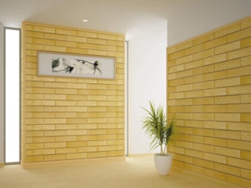 undefined銘木薄単板のゆたかな質感に、家具調面取り加工を施したもの。部屋を演出するアクセント壁としても。[銘木カベブロック・ミニ〈タモ〉]undefinedDAIKENhttps://www.daiken.jp/