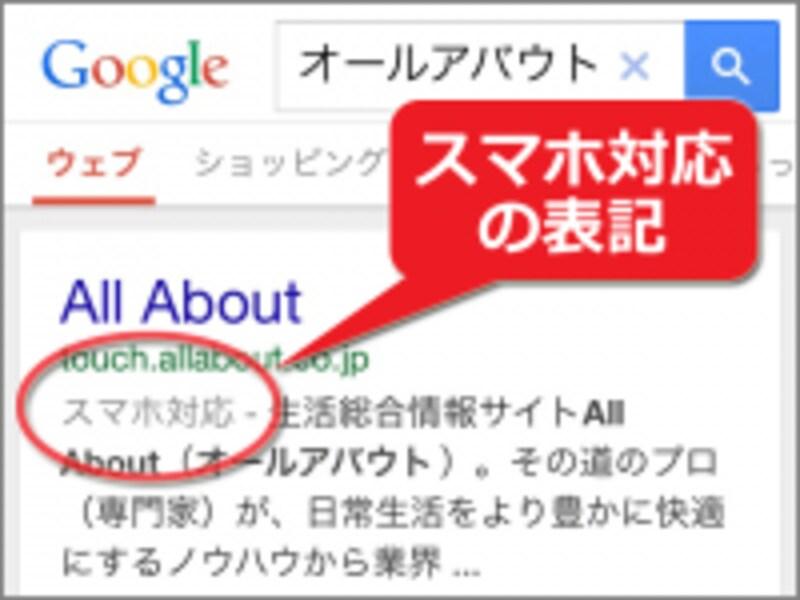 モバイル端末への対応状況が検索結果に影響する