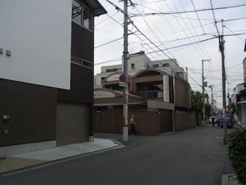 帝塚山、個性的な住宅