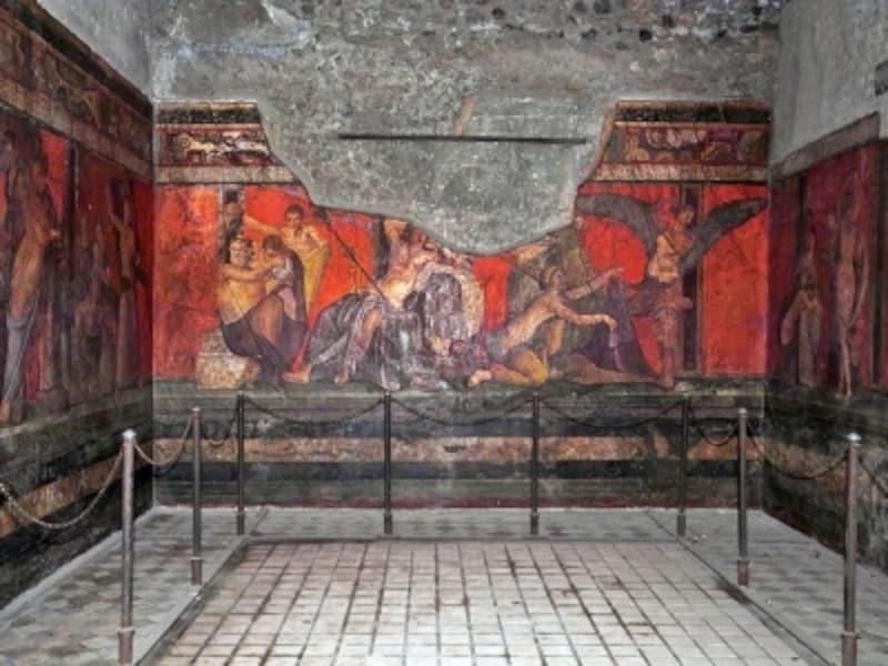 秘儀荘のフレスコ画『ディオニュソスの秘儀』
