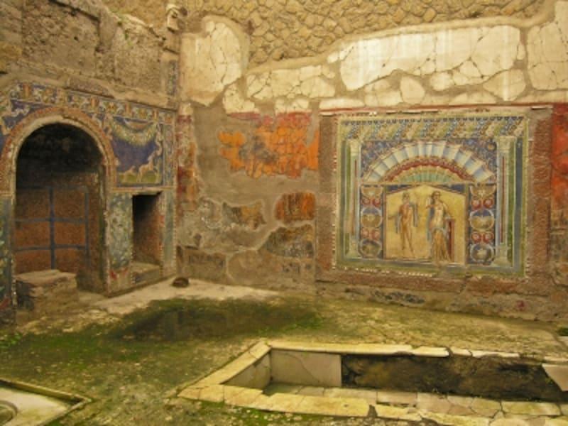 ヘルクラネウム、ネプトゥヌスとアンフィトリテの家のモザイク