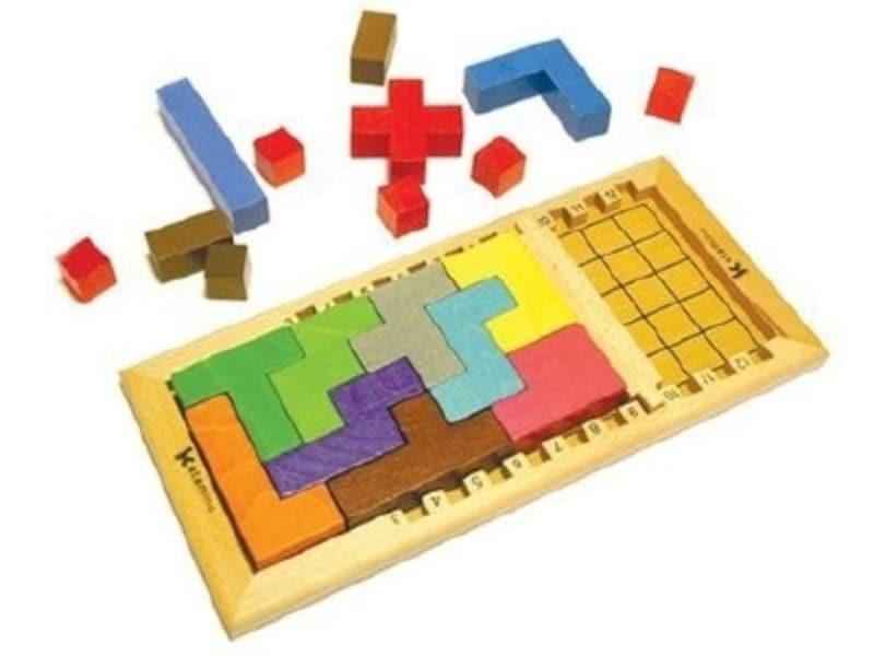 スペースの広さと3種類のブロックの組み合わせで難易度が変化!