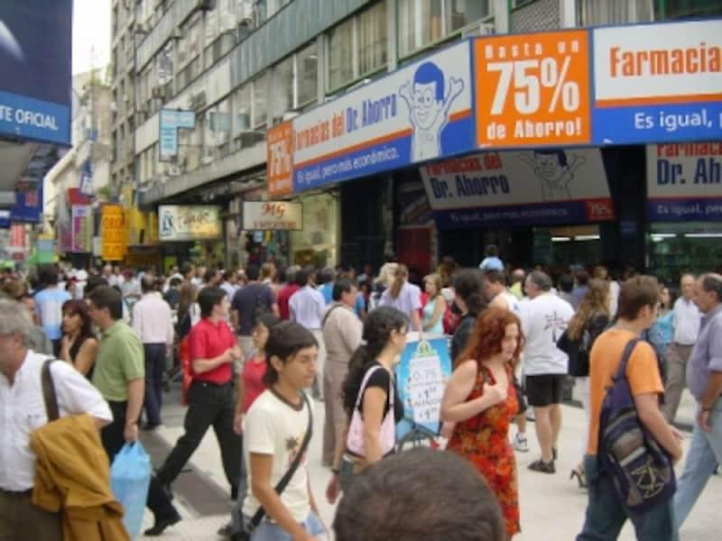 ブエノスアイレスの繁華街フロリダ通りへ行けば、銀行や両替所がいくらでも見つかるundefined写真提供:パラグアイに行こう、イグアスに行こう