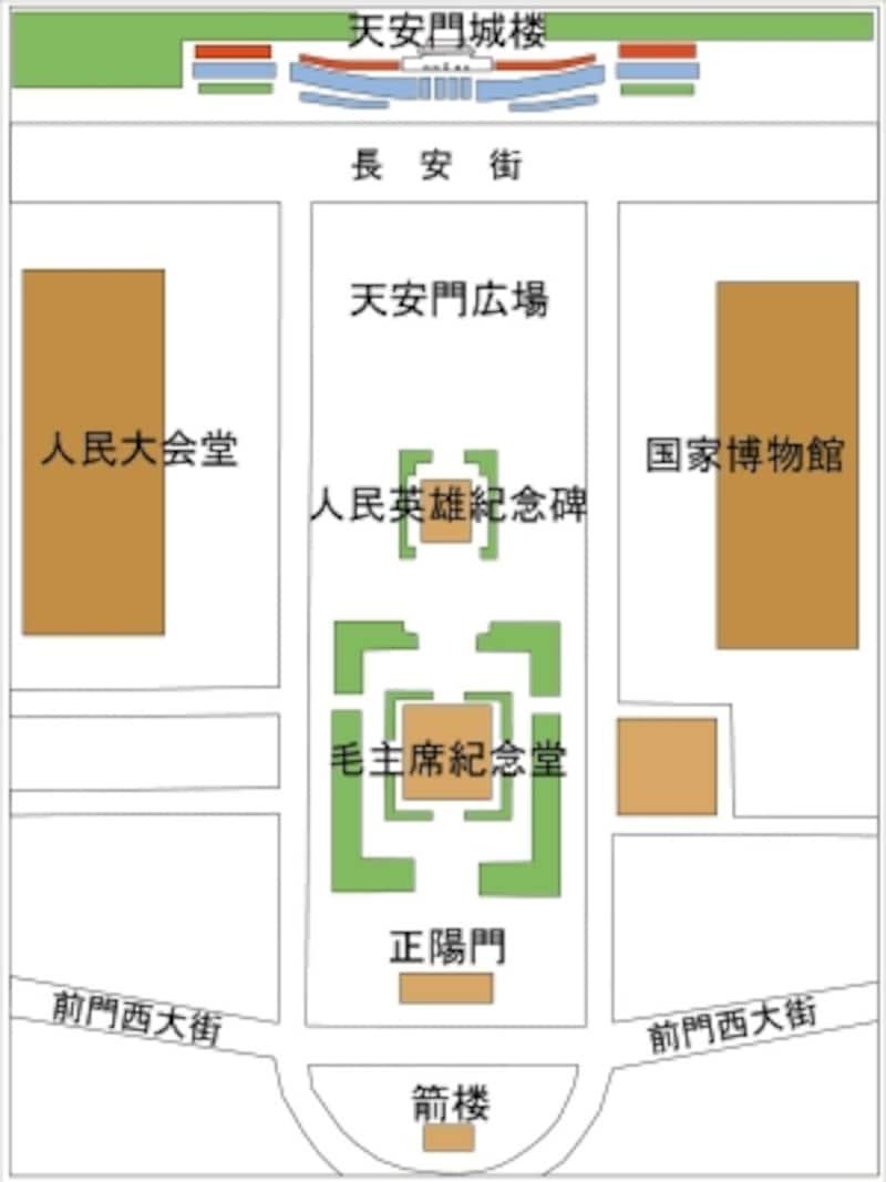 天安門広場地図