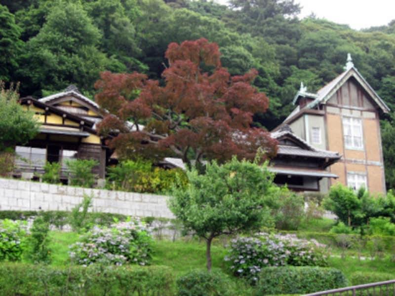 「コクリコ荘」と同じ和洋折衷住宅の旧柳下邸(2011年6月26日撮影)