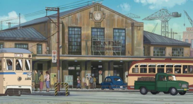 野毛側から見た桜木町駅(スタジオジブリ提供)