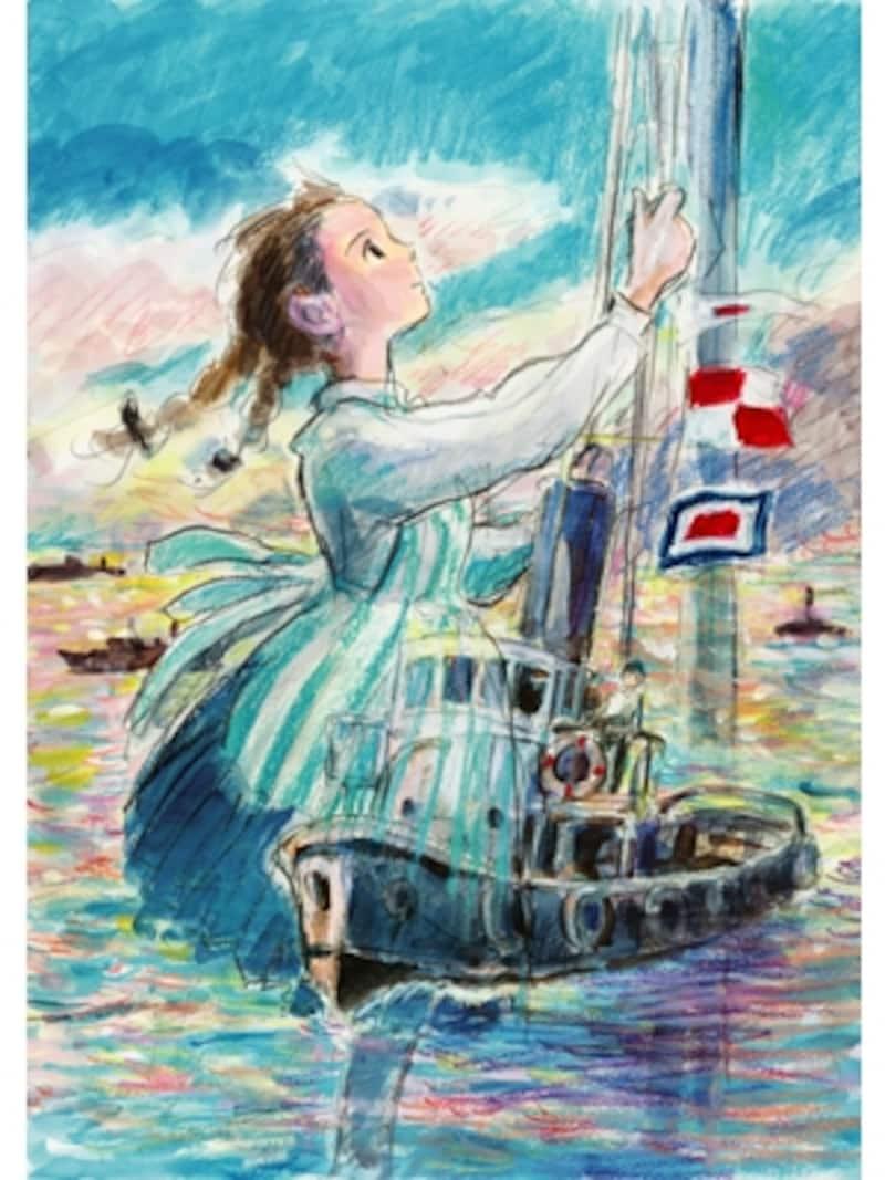 『コクリコ坂から』ポスターは、脚本を手がけた宮崎駿氏によるものundefined(C)2011高橋千鶴・佐山哲郎・GNDHDDT