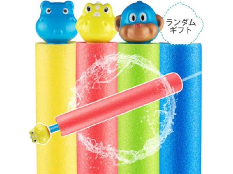 水遊びおもちゃ水鉄砲 キュートな動物キャラクターの水鉄砲はカラフルな4色展開