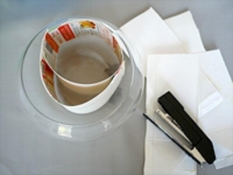 牛乳パックで作った型枠