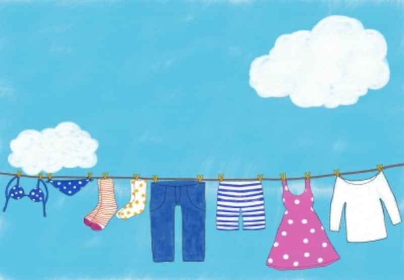 服の素材は、ふだんの扱いはもちろん、洗濯をするうえでも重要なポイントになります