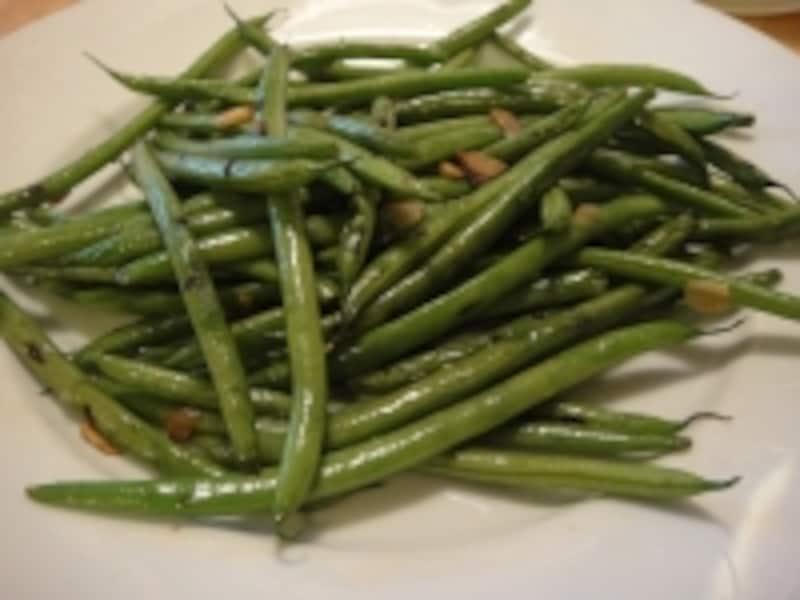 インゲン豆のソテー