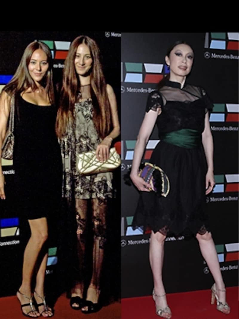 7811f039961a6 左から)モデルの道端ジェシカさん。モデルの道端カレンさん。ミュージシャンの野宮真貴さん。