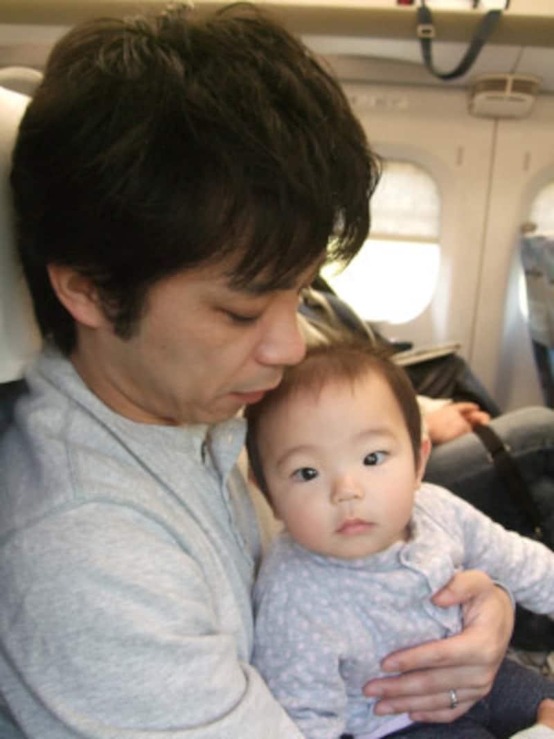 赤ちゃんと新幹線