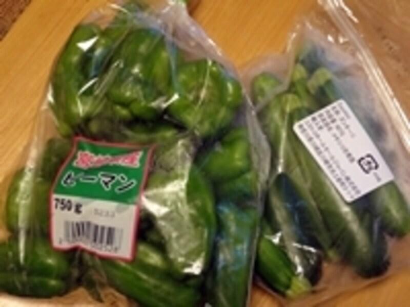 生鮮野菜もコストコでは大容量で売られている
