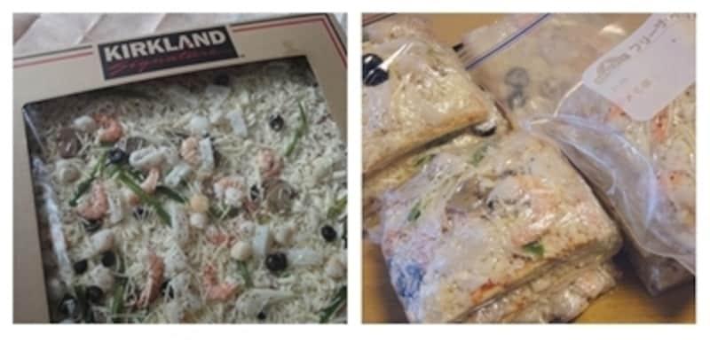 人気のコストコピザ。カットして冷凍保存がおすすめ