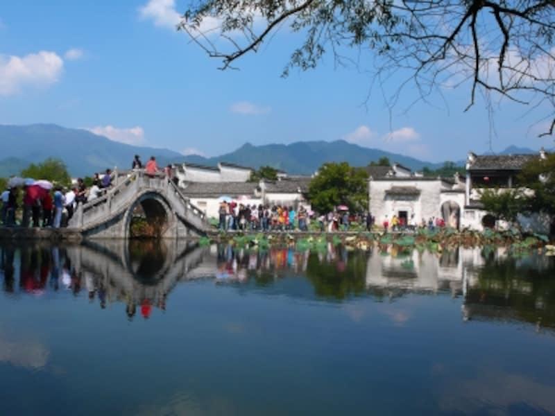 「安徽南部の古村落-西逓・宏村」、宏村南湖