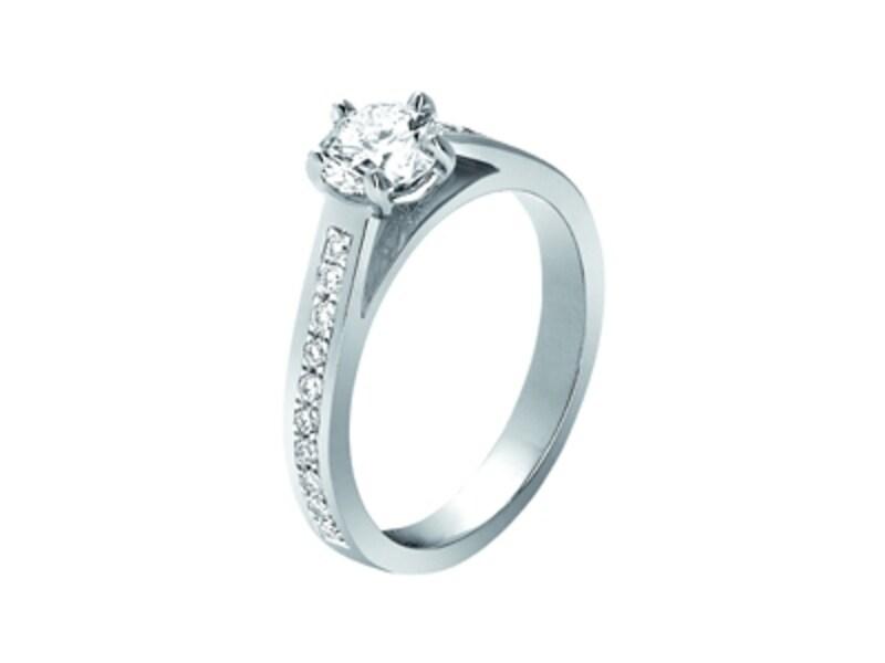 「フリソン」リング、プラチナ×ダイヤモンド、0.3ct~、53万1300円